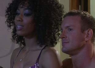 Alektra Blue and Misty Stone get their taut sweet pussies licked and team-fucked in interracial foursome. They bring hot guy to the edge of nirvana in this insane sex orgy, Admirable porn action!