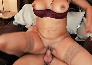 Ryan Mclane uses his sturdy sausage to bring Diamond Kitty with round butt and clean snatch to the height of pleasure
