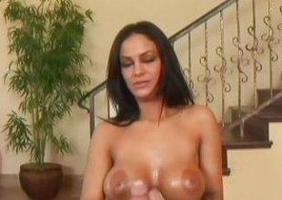 Angelina Valentine plays with this hard cock