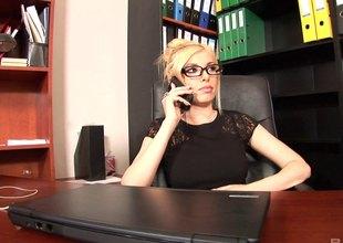 Dona gets a job as a secretary where she regularly fucks her boss