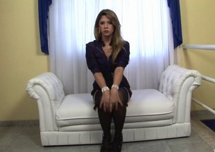 Small breasts tgirl with puffy nipps plays with her boner