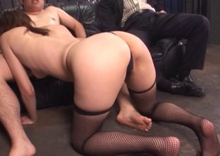 Mature, pretty Asian housewife gets drilled and takes cum on her face