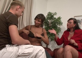 A swinging pair brings a BBW home for a wild threesome