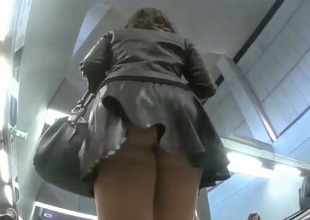 Hunting for upskirt shots