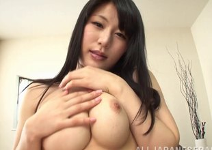 Cum eating Japanese girl swallows as much sperm as she can get