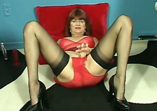 Filthy older lady is on demand for her shameless solo session