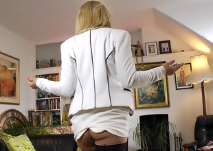 Sexy Secretary In Seams