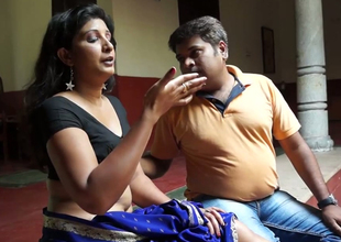 Sexually excited Indian guy is teasing his girl tracing her body with fingers