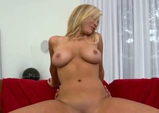 Voracious porn star is team-fucked hard in a doggy style