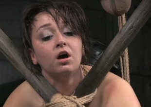 Filthy regular white slut Piper Rage loves to be fastened up and caned