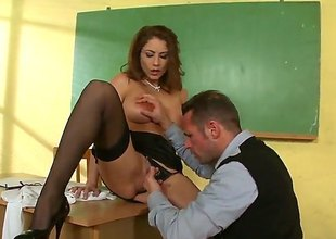 David Perry shoves his love stick in sinfully sexy Roberta Gemmas throat before she gets fucked in her butthole