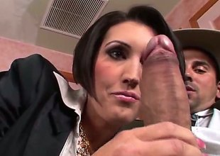 Voodoo makes Dylan Ryder gag on his beefy meat pole