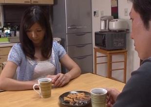 Hot aged Asian housewife Chihiro Uehara in hot 69