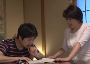 Chiaki Takeshita arousing mature Asian chick in position 69