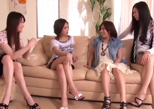 Japanese Shlong Shared by Group of Horny Sweethearts 1