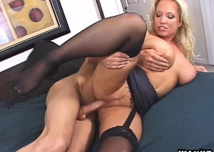 Stunning MILF Rachel seduces and bangs her horny young step-son