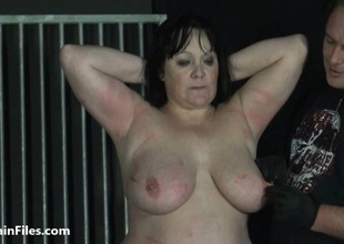 BBW amateur ### Chinas extraordinary needle bdsm and caged cattle prod electro torture of fat submissive