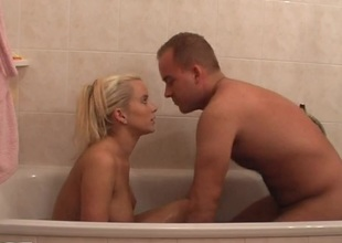 Cindy Dollar in amateur homemade sex vid with a blonde sucking rod