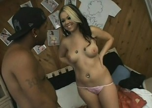 Exciting young blonde seizes the chance to fulfill her fantasies with a black cock