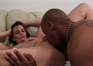 Cheating housewife Fallon gets her pussy explored by a dark dick