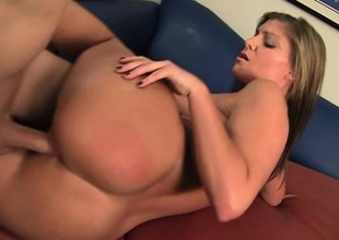 Seductive couzie Brianna Brooks gets her ass massaged and then banged
