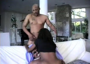Lovely young Promise begs to get creamed by two insatiable dudes