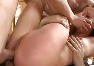 Young russian brutal anal gangbang and double anal