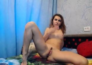 Gal masturbates anal with toys