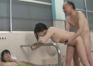 Asian sluts are getting drilled in a hot spa