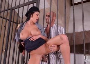 Prisoner pounds cock into busty slut Patty Michova