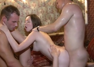 Sweaty foursome fucking with marvelous young ladies