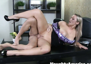 Abbey Brooks with juicy jugs takes Mikey Butderss rock hard meat pole so fucking deep