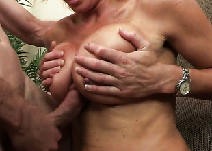 Rhylee Richards is on the edge of nirvana with Jordan Ashs hard sausage in her pussy hole