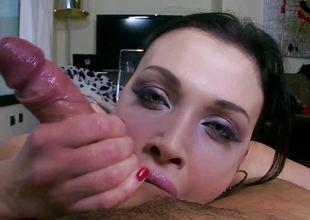 Cock loving brunette Aletta Ocean