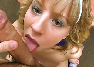 Chastity Lynn is a golden-haired babe and shes plan to suck on that pyramid like pecker that hes got. A blowjob by this babe is something that you really shouldnt miss out on