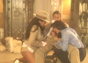 Elegant large titted sexy sweetheart Jenaveve Jolie in stylish hat shares hard shlong with another sultry brunette hair in FFM threesome. Watch 2 passionate sexy blooded hotties do a fellow
