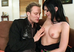 Brunette Andy Sandimas with phat booty is hopeless for man jizz