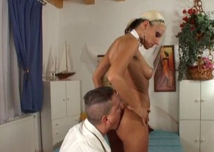 Vera lets him suck her toes then deepthroat fuck her