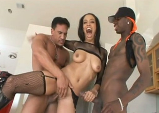 Black sexpot Alianna Love gets the big cock treatment