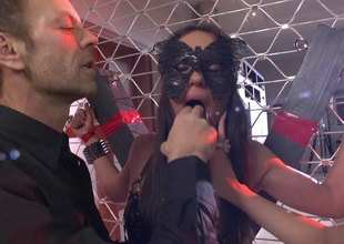 Rocco gets together with his two slave babes and nails them the one and the other