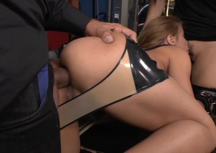 Strong penetration for obedient blonde slut