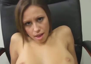 Filthy girl with constricted pink vagina is screwed missionary style