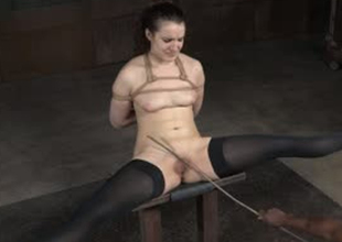 Daring porn slut Endza Adair is tied up and strained in hardcore BDSM porn clip