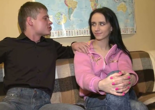 Lengthy legged skinny Russian student girl for a quickie