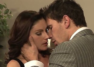 Brunette Samantha Ryan finds Manuel Ferrara handsome and takes his hard cock in her mouth