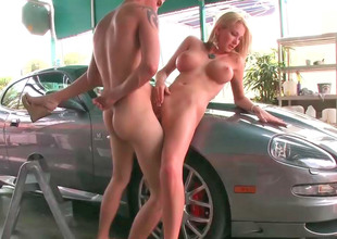 Busty blonde Blake gets fucked in the public like a slut