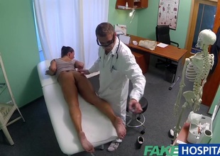 Bawdy mother i'd like to fuck sex junkie gets screwed by the doctor during the time that her spouse waits