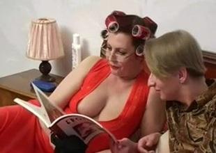 Busty Mama Helga and Slava 1