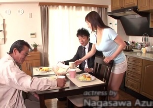 Crazy Japanese chick Azusa Nagasawa in Exotic bathroom, big tits JAV scene