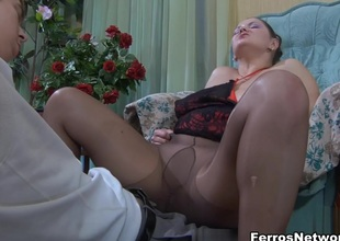 MaturesAndPantyhose Video: Emilia and Benjamin